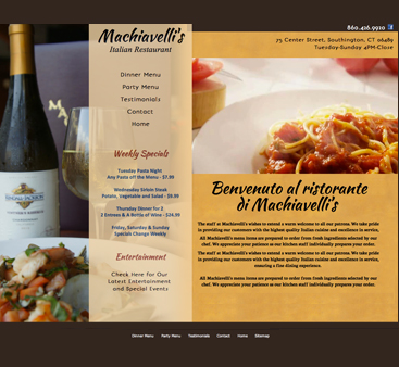 Machiavellis Restaurant New Design
